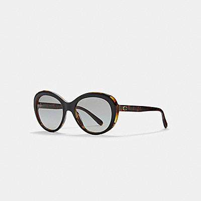 亞洲臉型橢圓斜框太陽眼鏡