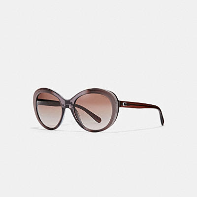 ASIA FIT BEVELED EDGE OVAL SUNGLASSES