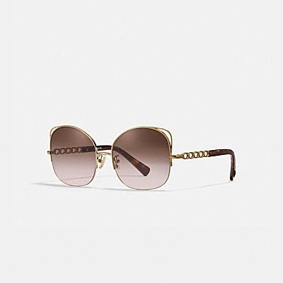 SIGNATURE 鍊條金屬絲框太陽眼鏡