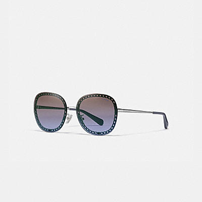 OVERSIZED SIGNATURE CHAIN SQUARE SUNGLASSES