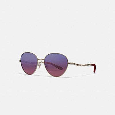 SIGNATURE CHAIN OVAL SUNGLASSES