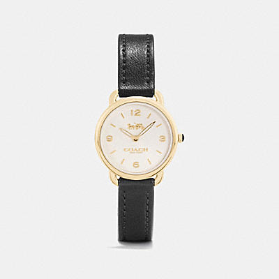 DELANCEY 窄版皮革腕錶