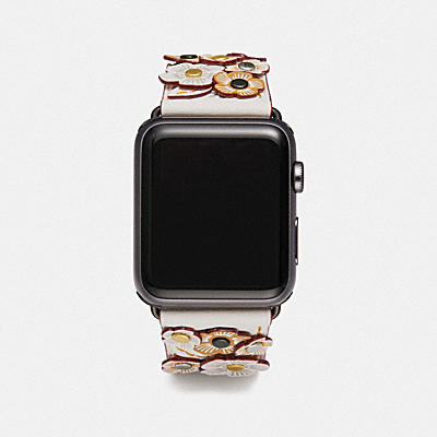 APPLE WATCH? STRAP WITH TEA ROSE APPLIQUE