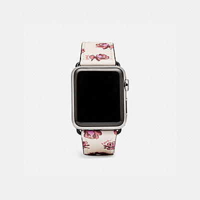 APPLE WATCH® STRAP WITH FLORAL PRINT
