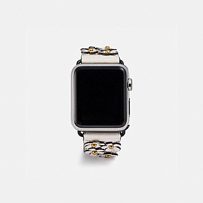 APPLE WATCH® STRAP WITH FLORAL APPLIQUE