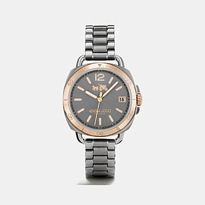 TATUM 淺紅金色錶盤手錶