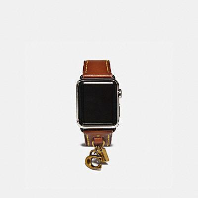 コーチ COACHのモバイルアクセサリー |Apple Watch(R) 38MM レザー ストラップ ウィズ チャーム