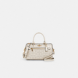 ROWAN SATCHEL IN SIGNATURE LEATHER - 1006 - IM/CHALK