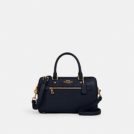 COACH 1006 ROWAN SATCHEL IN SIGNATURE LEATHER IM/MIDNIGHT