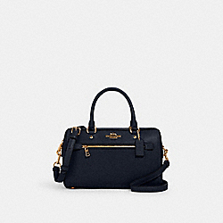 ROWAN SATCHEL IN SIGNATURE LEATHER - 1006 - IM/MIDNIGHT