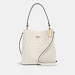 COACH 1008 - TOWN BUCKET BAG IN SIGNATURE LEATHER IM/CHALK