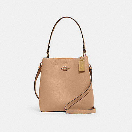 COACH 1011 SMALL TOWN BUCKET BAG IM/TAUPE OXBLOOD