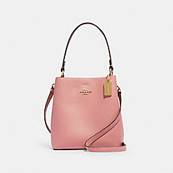 COACH 1011 - SMALL TOWN BUCKET BAG IM/BUBBLEGUM/WINE