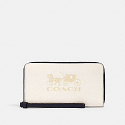 LARGE PHONE WALLET IN COLORBLOCK - 1020 - IM/CHALK MULTI