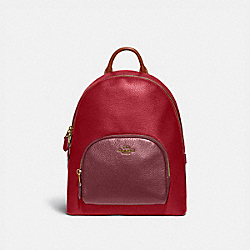 CARRIE BACKPACK IN COLORBLOCK - 1021 - BRASS/RED APPLE MULTI