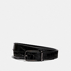 COACH 102 Skinny Buckle Cut-to-size Reversible Dress Belt, 32mm QB/BLACK