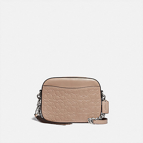 COACH CAMERA BAG IN SIGNATURE LEATHER - LH/TAUPE - 1033
