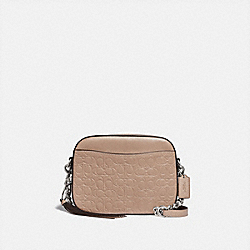 CAMERA BAG IN SIGNATURE LEATHER - 1033 - LH/TAUPE