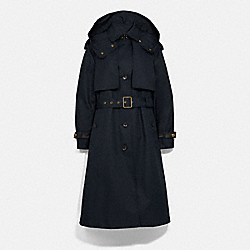 COACH 1058 - HOODED TRENCH RAVEN BLUE