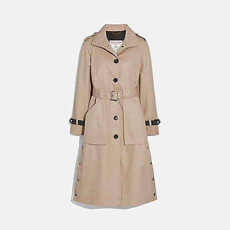 COACH 1096 TRENCH WITH SIDE SNAPS BONE