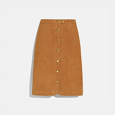 COACH 1099 SUEDE SKIRT CANYON