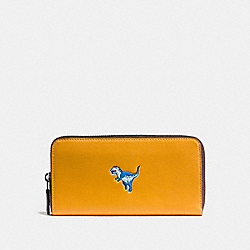 COACH 11035 Accordion Wallet With Rexy GOLDENROD