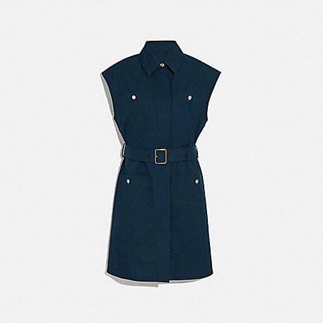 COACH 1129 TRENCH DRESS NAVY