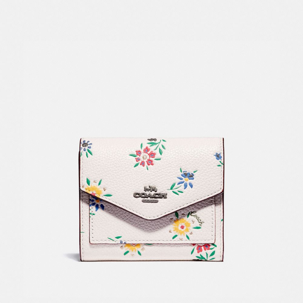 SMALL WALLET WITH WILDFLOWER PRINT