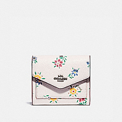 COACH 1131 - SMALL WALLET WITH WILDFLOWER PRINT V5/CHALK