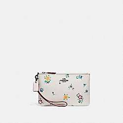 COACH 1135 - SMALL WRISTLET WITH WILDFLOWER PRINT PEWTER/CHALK