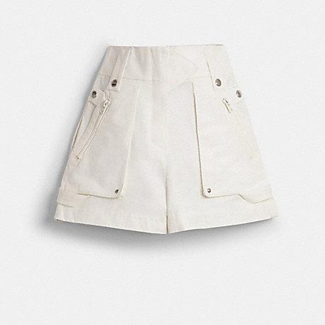 COACH POCKET SHORTS - WHITE - 1145