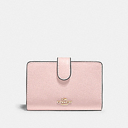COACH 11484 - MEDIUM CORNER ZIP WALLET IM/BLOSSOM