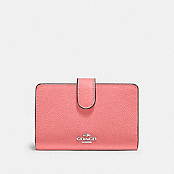 COACH 11484 - MEDIUM CORNER ZIP WALLET QB/PINK LEMONADE