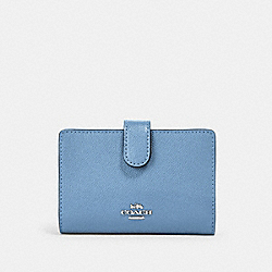 COACH 11484 Medium Corner Zip Wallet SV/SLATE