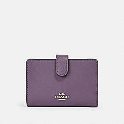 COACH 11484 Medium Corner Zip Wallet SV/DUSTY LAVENDER