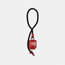 COACH 1170 Earbud Case Lanyard QB/CRIMSON