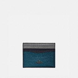 CARD CASE IN COLORBLOCK - 12070 - GM/PEACOCK MULTI
