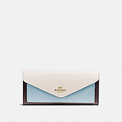 SOFT WALLET IN COLORBLOCK - 12122 - B4/OXBLOOD MULTI