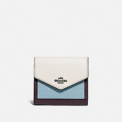 SMALL WALLET IN COLORBLOCK - 12123 - B4/OXBLOOD MULTI