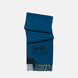 COACH 12166 - SIGNATURE CASHMERE SCARF NAVY/DENIM
