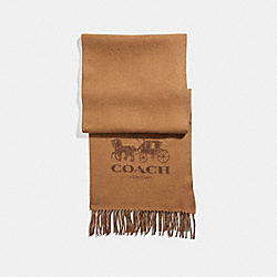 COACH 12166 - SIGNATURE CASHMERE SCARF CAMEL/SADDLE