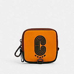 COACH 1265 - SQUARE HYBRID POUCH IN COLORBLOCK WITH COACH PATCH QB/TUMERIC/ DARK CLOVER MULRI