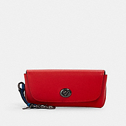 COACH 1267 - SUNGLASS CASE IN COLORBLOCK QB/MIAMI RED BLUE JAY