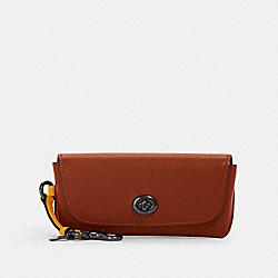 COACH 1267 - SUNGLASS CASE IN COLORBLOCK QB/REDWOOD TUMERIC