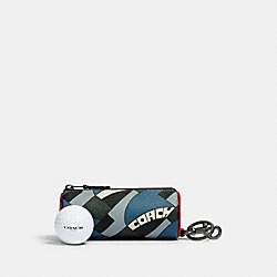 COACH 1269 - GOLF BALL SET WITH DECO BRIDGE GEO PRINT QB/BLUE JAY MULTI