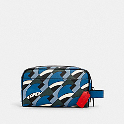 COACH 1275 - SMALL TRAVEL KIT WITH DECO BRIDGE GEO PRINT QB/BLUE JAY MULTI