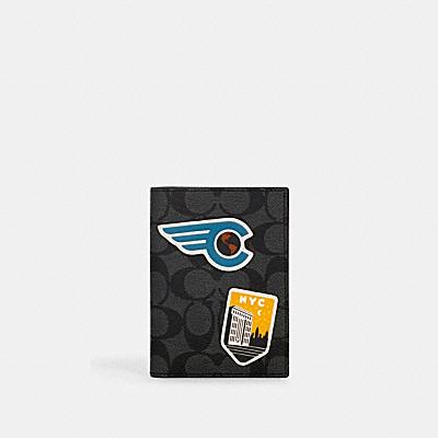 【オンライン限定】パスポート ケース シグネチャー キャンバス ウィズ トラベル パッチ
