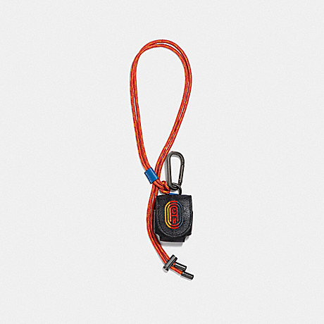 COACH 1295 WIRELESS EARBUD CASE IN SIGNATURE CANVAS WITH COACH PATCH CHARCOAL SIGNATURE MULTI