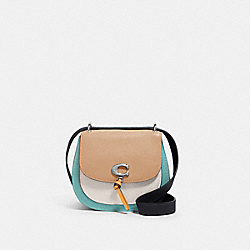 REMI SADDLE BAG IN COLORBLOCK - 1330 - SV/TAUPE MULTI