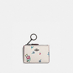 COACH 1353 - MINI SKINNY ID CASE WITH WILDFLOWER PRINT V5/CHALK
